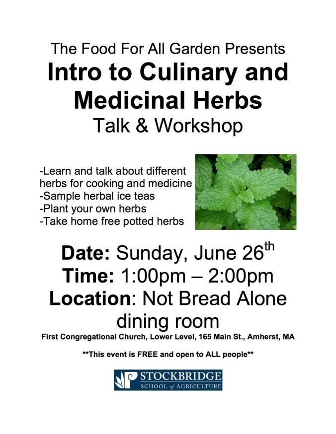 herb workshop flyer